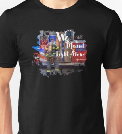 Firefighter Fireman Paramedic Rescue Patriotic Hero Eagle Flag USA Fire red white blue Unisex T-Shirt