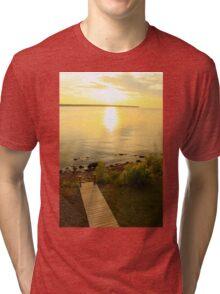 Sunset on the Lake Tri-blend T-Shirt