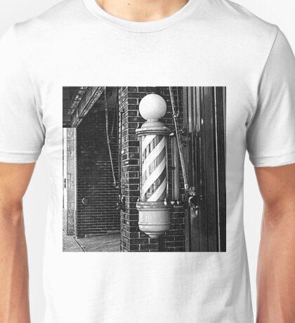 RainbowConfetti Vintage Barber Pole Unisex T-Shirt
