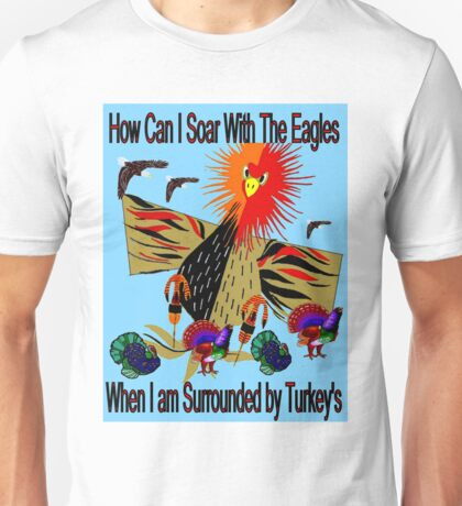 """SOARING WITH EAGLES"" Abstract Comical Print Unisex T-Shirt"
