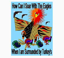 """""""SOARING WITH EAGLES"""" Abstract Comical Print Unisex T-Shirt"""