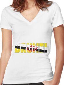 Brunei Women's Fitted V-Neck T-Shirt