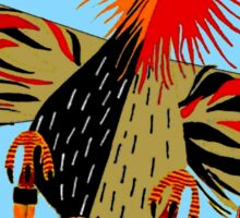 """""""SOARING WITH EAGLES"""" Abstract Comical Print Sticker"""
