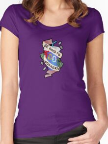 Be Kind To Food Workers Women's Fitted Scoop T-Shirt