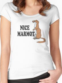 The Big Lebowski Quote - Nice Marmot Women's Fitted Scoop T-Shirt