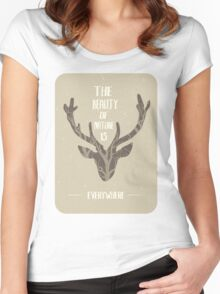 The beauty of nature is everywhere Women's Fitted Scoop T-Shirt