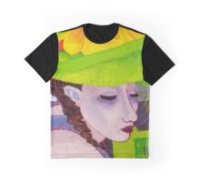 Girl with Big Green Hat Graphic T-Shirt