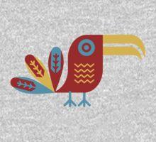 Toucan, bird, birdy, colorful, vector, shapes Kids Tee