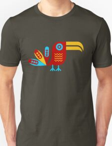 Toucan, bird, birdy, colorful, vector, shapes Unisex T-Shirt