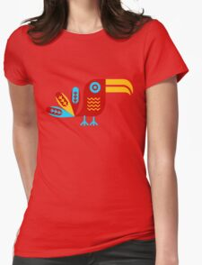 Toucan, bird, birdy, colorful, vector, shapes Womens Fitted T-Shirt