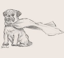 Super Pug - By His Majestic Self by betsystreeter