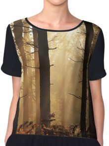 Misty forest sunrise Chiffon Top