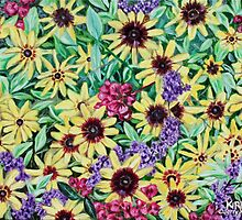 'Arrangement of Greens, Yellow, Purple and Red' by Jerry Kirk