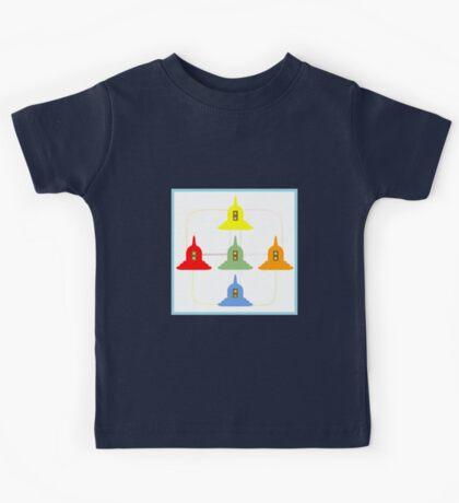 5 Buddhism Stupas Kids Tee