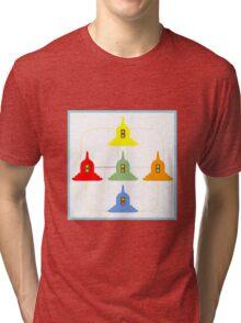 5 Buddhism Stupas Tri-blend T-Shirt