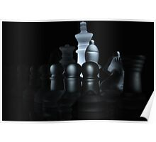 Frosted Chess Set Poster