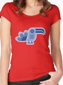 Toucan, bird, birdy, blue, vector, shapes Women's Fitted Scoop T-Shirt