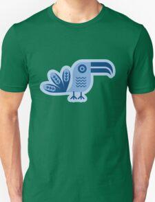 Toucan, bird, birdy, blue, vector, shapes Unisex T-Shirt