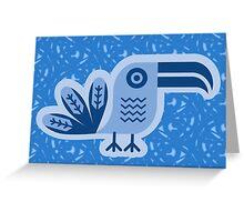 Toucan, bird, birdy, blue, vector, shapes Greeting Card