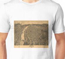 Vintage Pictorial Map of Elgin Illinois (1880) Unisex T-Shirt