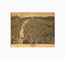 Vintage Pictorial Map of Elgin Illinois (1880) Unisex T-Shirt