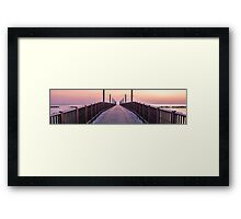 A sunrise on the pier Framed Print