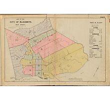 Vintage Map of Elizabeth NJ (1902) Photographic Print