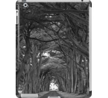 Point Reyes Black And White Cypress Tunnel iPad Case/Skin