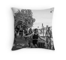 Bicycles, bicycles Throw Pillow