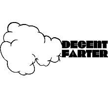 Funny Joking Farting Cartoon Design  Photographic Print