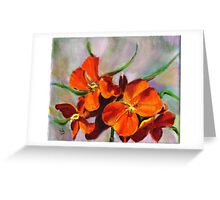 Wall Flower Greeting Card