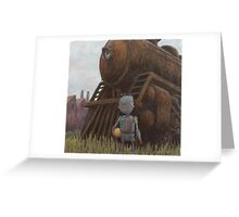 robot train Greeting Card