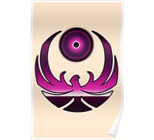 80's Digital Skyrim Nightingale Emblem Poster
