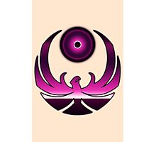 80's Digital Skyrim Nightingale Emblem Photographic Print