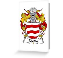Rivera Coat of Arms/Family Crest Greeting Card