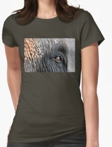 Close-up shot of Asian elephant eye Womens Fitted T-Shirt