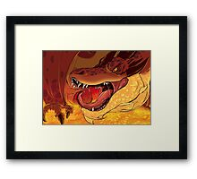 Greed's Roar Framed Print