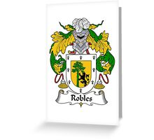 Robles Coat of Arms/Family Crest Greeting Card
