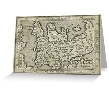 Vintage Map of England (1603) Greeting Card