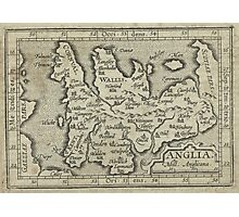 Vintage Map of England (1603) Photographic Print
