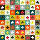 retro boxed stars by Sharon Turner