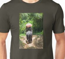 Elephant trekking through jungle Unisex T-Shirt