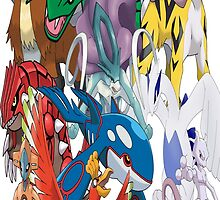 Legendary Pokemon Bed Duvet! Queen Size (Check Other work for other sizes!) by TomsTops