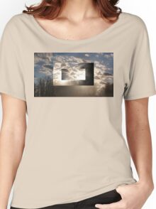 Sunset Clouds Rectangles Women's Relaxed Fit T-Shirt