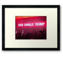 Fuck Trump Framed Print