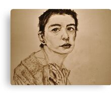 'I Dreamed a Dream' Anne Hathaway, Les Miserables Portrait  Canvas Print