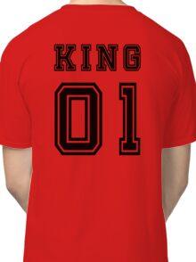 Vintage College Football Jersey Joking Design - King   Classic T-Shirt