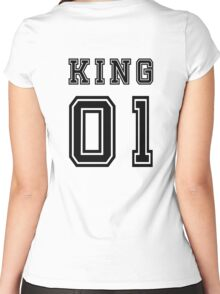 Vintage College Football Jersey Joking Design - King   Women's Fitted Scoop T-Shirt