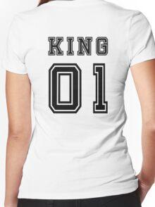 Vintage College Football Jersey Joking Design - King   Women's Fitted V-Neck T-Shirt