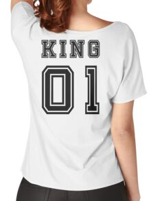 Vintage College Football Jersey Joking Design - King   Women's Relaxed Fit T-Shirt